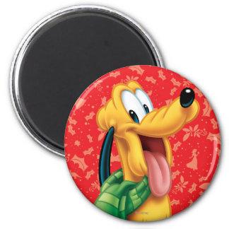 Pluton dans l'écharpe magnet rond 8 cm