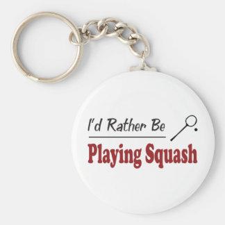 Plutôt joue au squash porte-clefs
