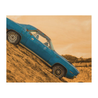 Plymouth Barracuda Wood Canvas