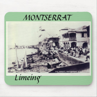 Plymouth - Bay Street, MONTSERRAT, Limeing Mouse Pad