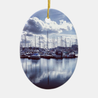 Plymouth boats ceramic oval ornament