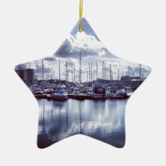 Plymouth boats ceramic star ornament