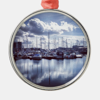 Plymouth boats Silver-Colored round ornament