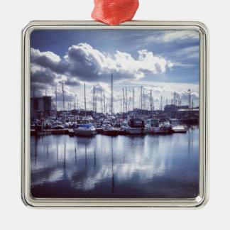 Plymouth boats Silver-Colored square ornament