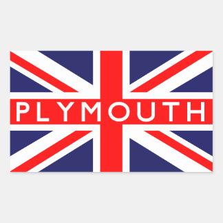 Plymouth : British Flag Sticker