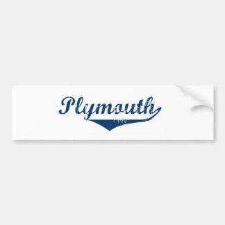 Plymouth Bumper Sticker