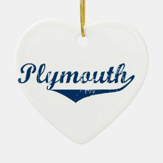 Plymouth Ceramic Heart Ornament