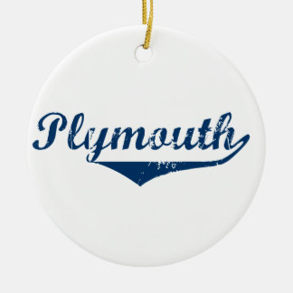 Plymouth Ceramic Ornament