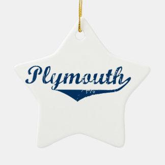 Plymouth Ceramic Star Ornament