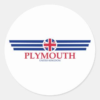 Plymouth Classic Round Sticker