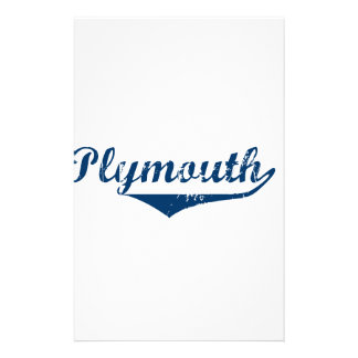 Plymouth Customized Stationery