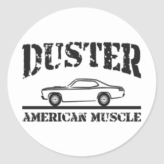 Plymouth Duster American Muscle Car Classic Round Sticker