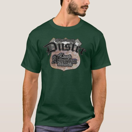 Plymouth Duster Classic - Faded Hues Rte 66 Sign T-Shirt