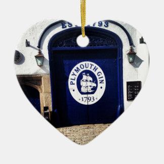 Plymouth Gin Ceramic Heart Ornament