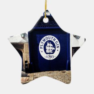 Plymouth Gin Ceramic Star Ornament
