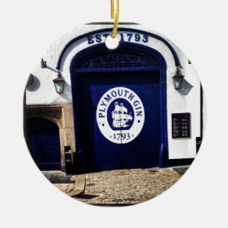 Plymouth Gin Round Ceramic Ornament