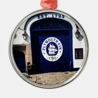 Plymouth Gin Silver-Colored Round Ornament