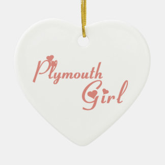 Plymouth Girl Ceramic Ornament