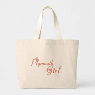 Plymouth Girl Large Tote Bag