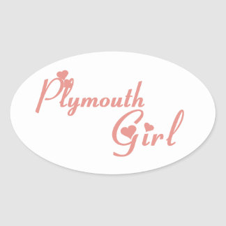 Plymouth Girl Oval Sticker