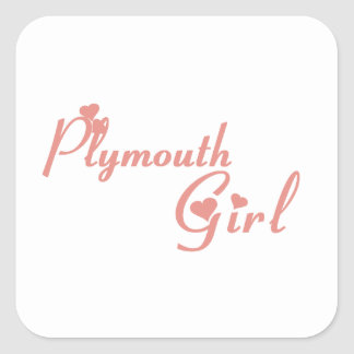 Plymouth Girl Square Sticker