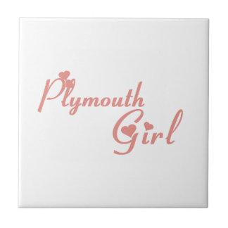 Plymouth Girl Tile