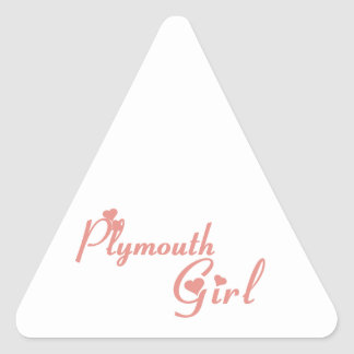 Plymouth Girl Triangle Sticker
