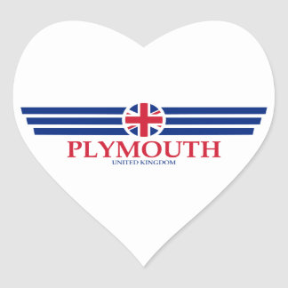 Plymouth Heart Sticker
