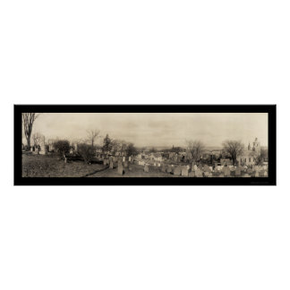 Plymouth MA Burial Hill Photo 1910 Poster