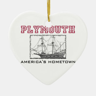 Plymouth, MA Ceramic Ornament