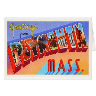 Plymouth Massachusetts MA Vintage Travel Souvenir Card