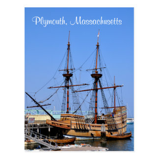 Plymouth Massachusetts Mayflower Ship Postcard