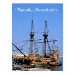 Plymouth Massachusetts Mayflower Ship Postcard