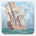 Plymouth, MassachusettsView of the Mayflower Square Sticker