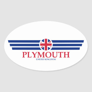 Plymouth Oval Sticker