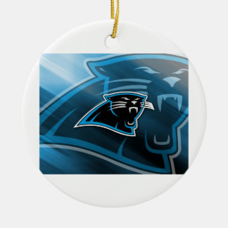 Plymouth Panthers Logo Round Ceramic Ornament