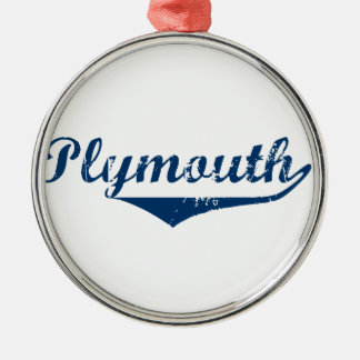 Plymouth Silver-Colored Round Ornament