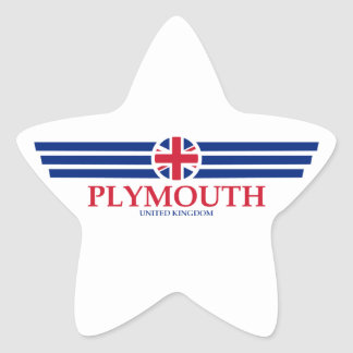 Plymouth Star Sticker