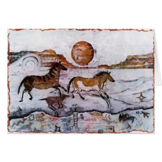 PMACarlson Horse Petroglyphs Card