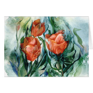 PMACarlson Orange Tulips Card