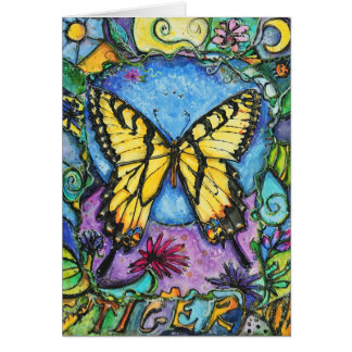 PMACarlson Tiger Butterfly Card