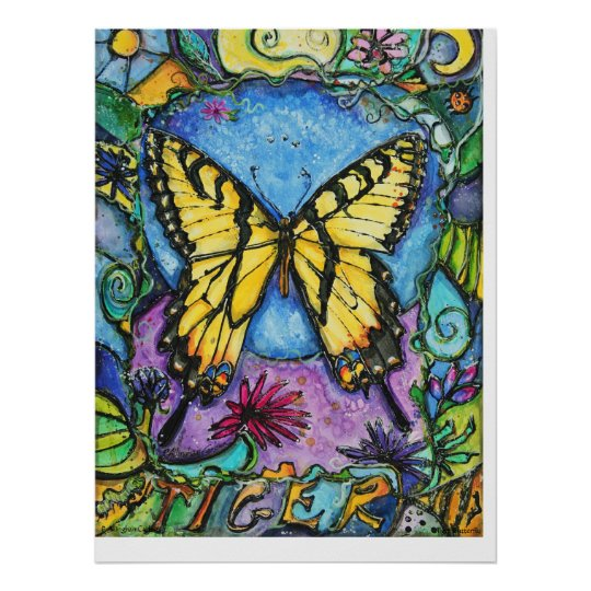 PMACarlson Tiger Butterfly Poster