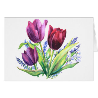 PMACarlson Tulips With Spring FlowersCard Card