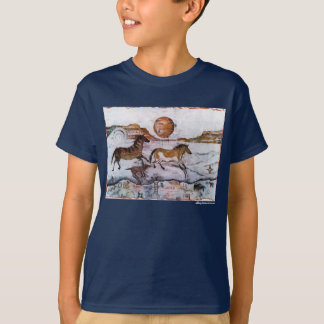 PMACarlsonHorse Petroglyph Kid's t shirt