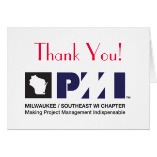 PMI Logo Print Quality, Thank You! Card