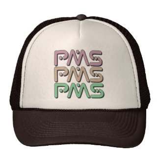 PMS - Raging Premenstrual Syndrome Feminist, Plum Trucker Hat
