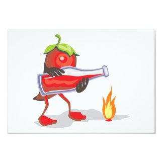 "png_CincoDeMayo-015  Mayo mexican mexico chili hot 3.5"" X 5"" Invitation Card"