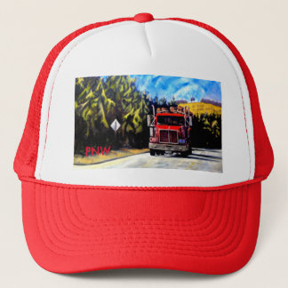 PNW Red Trucker Hat- The Logging Truck Trucker Hat