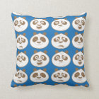 Po Ping Blue Pattern Throw Pillow