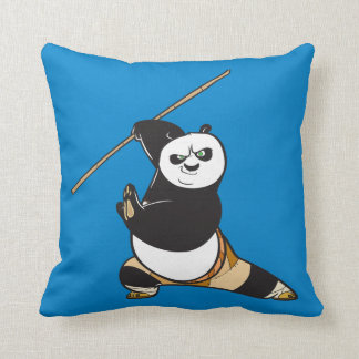 Po Ping Dragon Warrior Throw Pillow